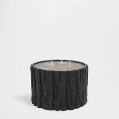 Bougie forme de tronc noire - Bougies - Décoration | Zara Home France