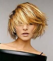 Image result for very textured chin length hairstyles