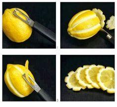 DIY Easy Lemon Flower Garnishing. More