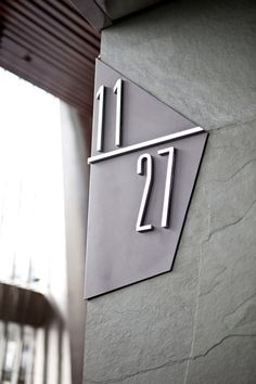 Unit number wall sign at The Energy, Jakarta, Indonesia by Bentuk