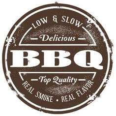 Illustration of Vintage Barbecue (BBQ) Stamp vector art, clipart and stock vectors. Bbq Quotes, Sign Quotes, Barbacoa, Smokehouse Menu, Propaganda E Marketing, Bbq Shed, Bbq Signs, Wood Signs, Motto