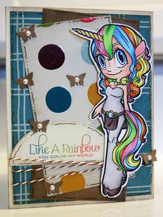 Unicorn Mae (digital stamp) by Craft Out Loud.
