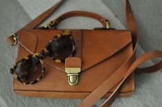 Madewell bag and Anthro sunnies