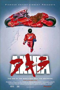 Akira movie poster. la prima volta che l ho visto al cinema, appena uscito in Italia  é stato come vedere la prima volta la tv a colori, nel 1978 oppure avere il primo videogame colecovision.