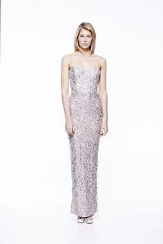 Fire Long in Taupe #eileenkirby #firedress #sparkle #sequins #dazzling #strapless #eveningwear #eveningdress #gowns #prom #elegant #beading