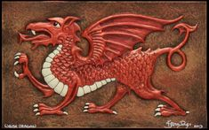 Welsh Dragon The national symbol of Wales, the Welsh dragon is said to be about the size of a large dog, about three feet in length. Rather small for a Dragon C, Welsh Dragon, Celtic Dragon, Bull Skull Tattoos, Bull Skulls, Symbol Of Wales, Flower Neck Tattoo, Small Back Tattoos, Tattoo Small