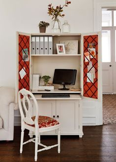 home office ideas conceal it in an armoire decorating files decoratingfilescom armoire office