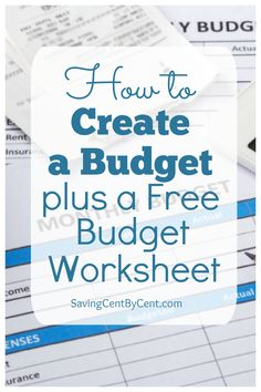 Whether you've never budgeted or are wanting to improve your budgeting skills, here you will learn how to create a budget and implement it. Plus you can get a free budget worksheet printable template. // How to budget for beginners // How to budget money // How to create a budget plan // Budget template // Budgeting Finances, Budgeting Tips, Living On A Budget, Frugal Living, Budgeting Worksheets, Budget Plan, Create A Budget, Budget Template, Money Saving Tips