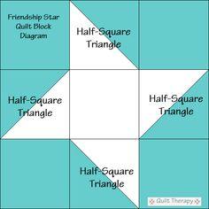 Star Power: Friendship Star Quilt Block & Eccentric Star Quilt Block – Quilt T. Half Square Triangle Quilts Pattern, Quilt Square Patterns, Beginner Quilt Patterns, Barn Quilt Patterns, Pattern Blocks, Square Quilt, Quilt Blocks Easy, Easy Quilts, Block Quilt
