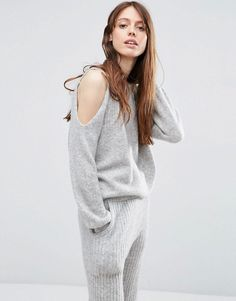 ASOS+Lounge+Jumper+with+Cold+Shoulder+Co-Ord