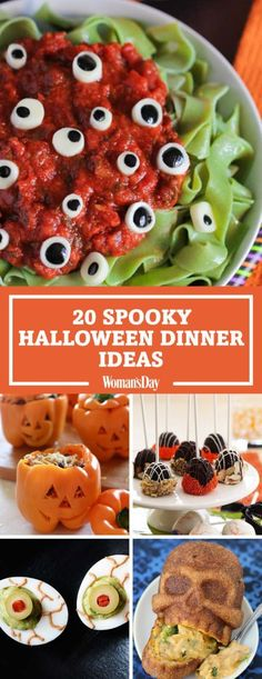 spooky halloween recipes These easy holiday dishes are bound to delight. Click through for the easiest Halloween dinner party ideas and recipes for adults and kids including Jack-o-Lantern Pot Pies, Pumpkin Patch Bites, Eyeball Cheesecake, and more. Halloween Snacks, Plat Halloween, Hallowen Food, Halloween Dinner, Spooky Halloween, Halloween Halloween, Women Halloween, Halloween Costumes, Halloween Makeup