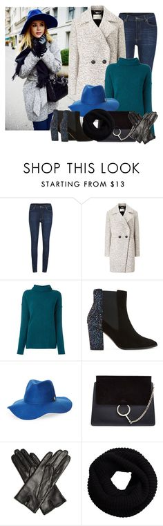 """Blue hat and some glitter change everything"" by danniss ❤ liked on Polyvore featuring Cheap Monday, Windsmoor, Forte Forte, Dune, Vince Camuto, Chloé and Bottega Veneta"