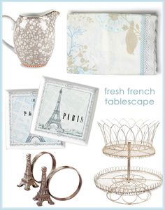 {Tabletop how-to!} Fresh French tablescape, tablecloths and decor. #laylagrayce #entertaining #china #newsletter