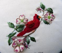 cardinal Brazilian embroidery