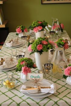 Ladies Lunch Table setting
