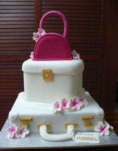 Off to the Honeymoon cake