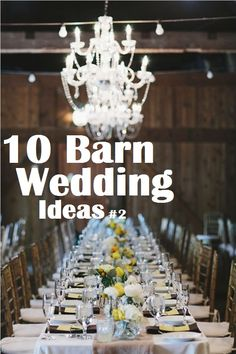 10 Barn wedding decor ideas part 2 #rusticweddings #barnweddingdecor