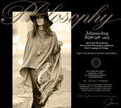 Johannesburg Trunk Show newsletter for Philosophy African Design, Jenni, Clothing Stores, Philosophy, Button, Stylish, Sexy, Clothes, Collection