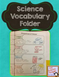 Science Vocabulary Folders Freebie and Ideas