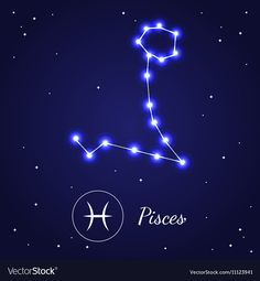 Pices Zodiac Sign Stars on the Cosmic Sky vector image on VectorStock Pisces Tattoo Designs, Pisces Tattoos, Zodiac Sign Tattoos, Tatoos, Zodiac Symbols, Zodiac Art, Zodiac Signs, Pices Art, Pisces