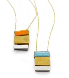 love these necklaces. would wear them layered with the wardobe that is in my head.  Minoux stacked necklace.
