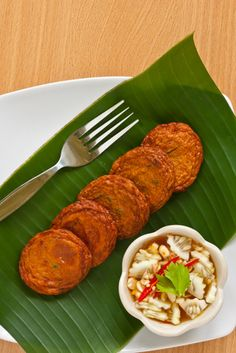 Thai fish patty (tod mon pla)