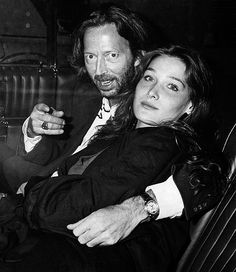 Carla Bruni and ex-boyfriend Eric Clapton