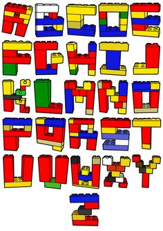 Fine Motor Lego Tub: letters - Re-pinned by #PediaStaff.  Visit http://ht.ly/63sNt for all our pediatric therapy pins