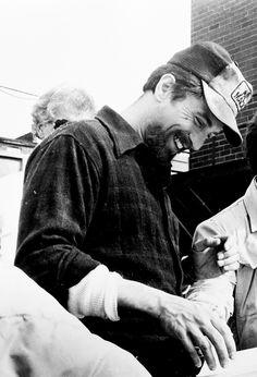 Robert De Niro photographed on the set of The Deer Hunter, 1977.