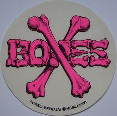 Cross Bones, 1986, VCJ by spider™, via Flickr Old School Skateboards, Vintage Skateboards, Cool Laptop Stickers, Banner Doodle, Architecture Artists, Longboard Design, Hologram Stickers, Skate Art, Dragon Design