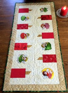 Advanced Embroidery Designs Christmas Tablerunner With Musial Angels