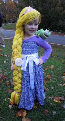 {tutorial} Making a Rapunzel child's dress from thrift store finds!