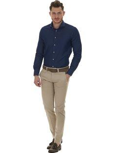 Shirt man denim blue Càrrel