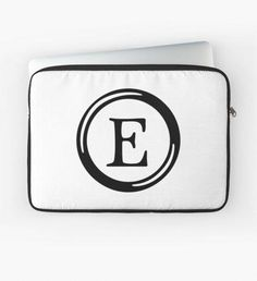 Button Letters - Series 01 | Letter ~  E Laptop Sleeve.  #macbook #pc #notebook #cover #pouch #ForHP #Dell #Lenovo #Asus #Acer #LaptopsDell Laptops Dell, Button Letters, Pc Notebook, Laptop Stickers, Acer, Laptop Skin, Lululemon Logo, Laptop Sleeves, Macbook
