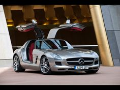 SLS AMG. Silver & Red.