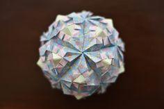 Origami Pomegranate Kusudama designed by Tomoko Fuse