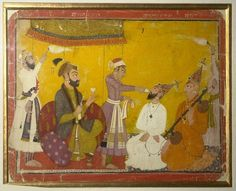 Mughal emperor Jahangir testing the strength of penance of Gosain Nirmalji and Bhagvanji 1750.  CHRISTOPHER CLIFTON'S CONFESSION