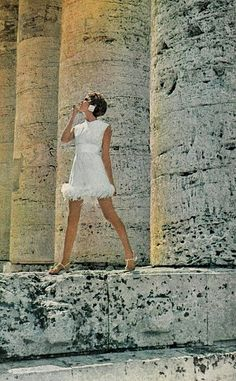 Model is wearing a creation by Teal Traina and photographed by Henry Clarke.  Vogue,December 1967.
