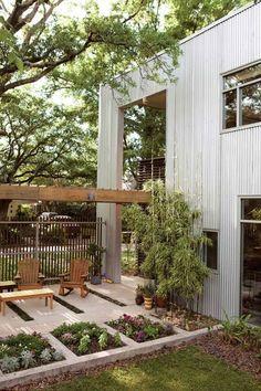 Innenhof Garten Gestalten mit Pflanzen-Beete anlegen