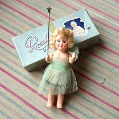 Vintage Rosebud Fairy Doll With Box
