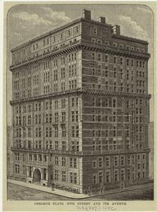 Osborne Flats, 57th Street and 7th Avenue, 1887. NYPL.