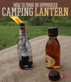 How To Make An Improvised Camping Lantern  ✿̥̥ Like this pin? Follow me for more @rosajoevannoy