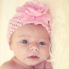 Summer Pink Glam Crochet Headband