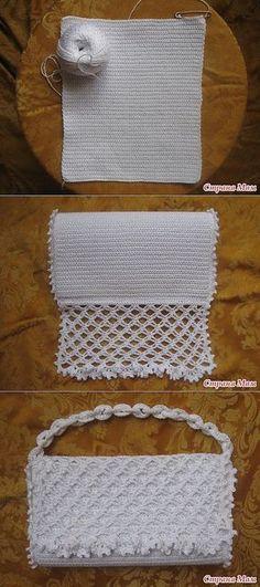 Receitas de Trico e Croche: Bolsa de Crochê estilo carteira