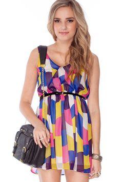 Multi colored dress!