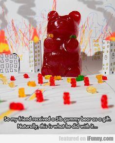 So My Friend Received A 5lb Gummy Bear...