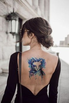 Missy Watercolor Cat Temporary Tattoo