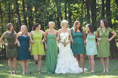 Vestido Madrinha de Casamento – Dicas para escolher #tons de verde