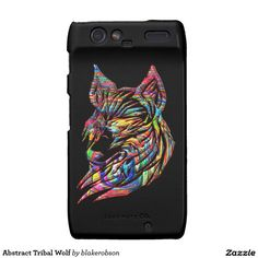 Abstract Tribal Wolf Motorola Droid RAZR Cover