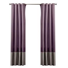 Bring a classic touch to any room with this faux silk curtain, showcasing a chic color-block motif.        Product: Set of 2 curtai...